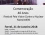 """40º Aniversário - """"Festival Pela Vida Contra o Nuclear – 21 e 22 de Janeiro de 1978"""""""